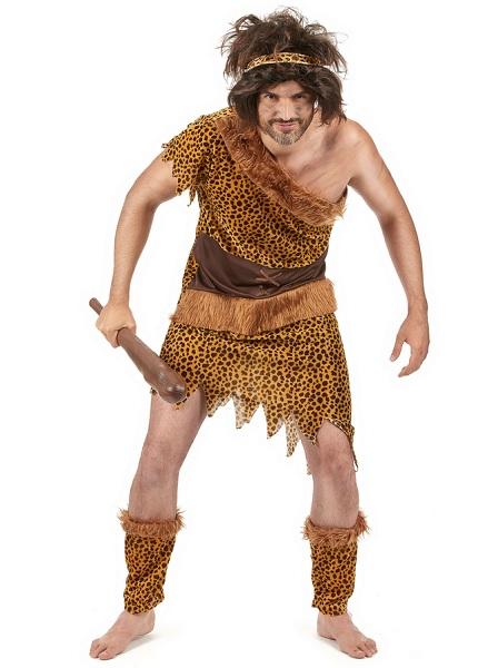 Steinzeit-Kostüm-Neandertaler-Kostüm-Herren-Männer-Erwachsene