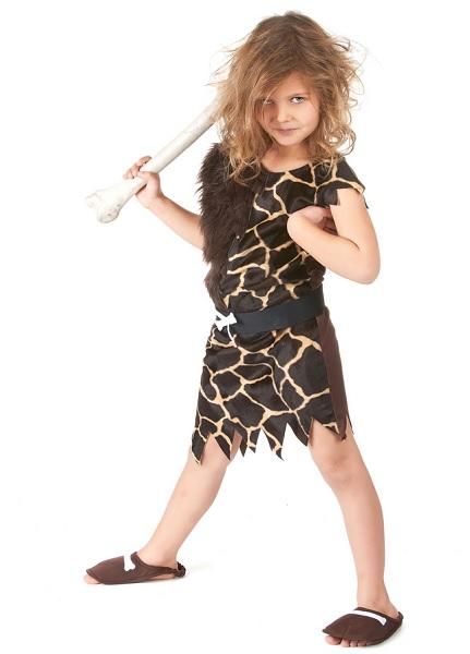 Steinzeit-Kostüm-Neandertaler-Kostüm-Kinder-Jungen-Mädchen