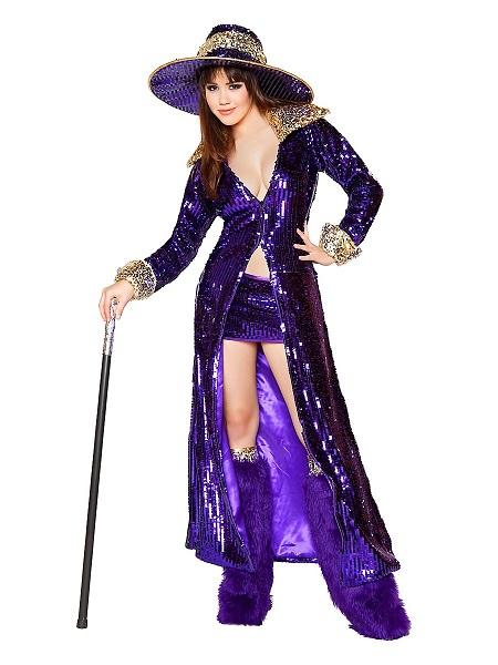 Zuhälter-Kostüm-Pimp-Kostüm-Damen-Frauen-Erwachsene
