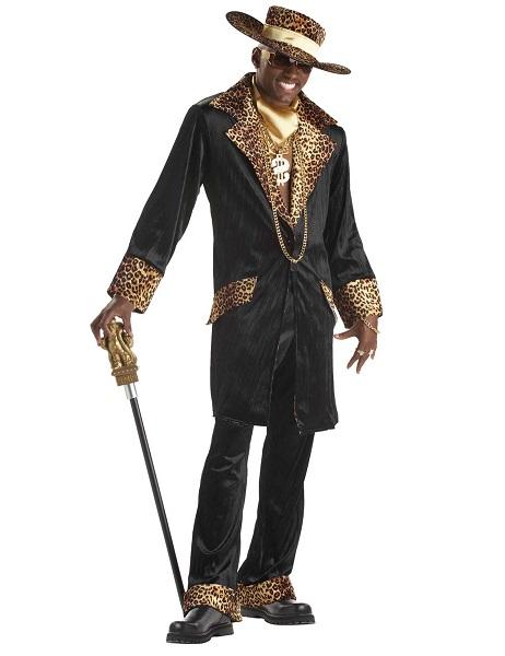 Zuhälter-Kostüm-Pimp-Kostüm-Herren-Männer-Erwachsene